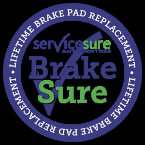 Brakes for life logo (BrakeSure from Service Sure).